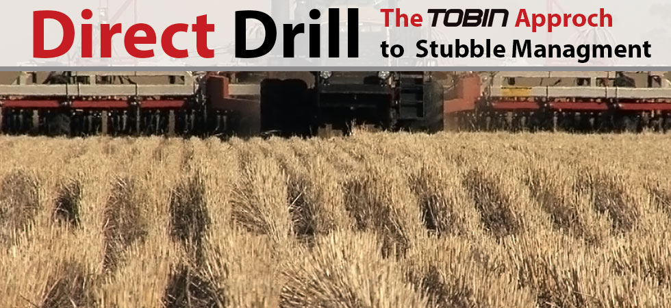 No-Till Direct Drill into Stubble